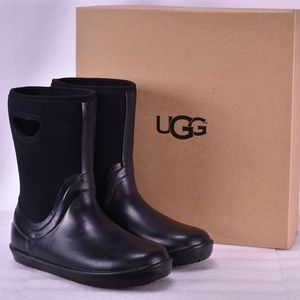 Youth UGG Kek Wool Black Rain Boots